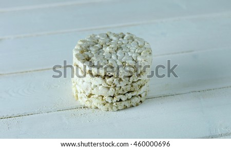 Rice wafers isolated on a white background - stock photo