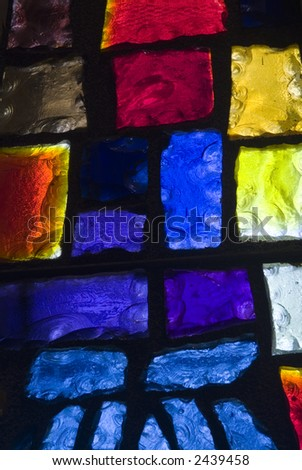 Rich colored stain glass panels background 06 - stock photo
