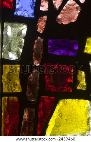 Rich colored stain glass panels background 08 - stock photo
