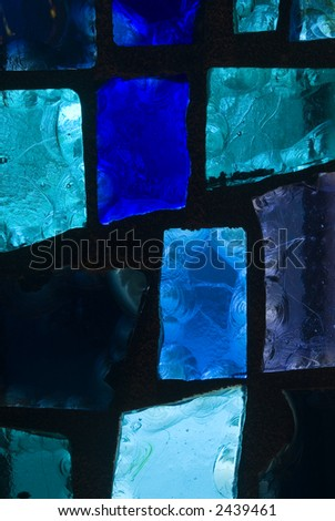 Rich colored stain glass panels background 09 - stock photo
