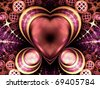 Rich pink jewel-like heart, Valentine's day motive - stock photo