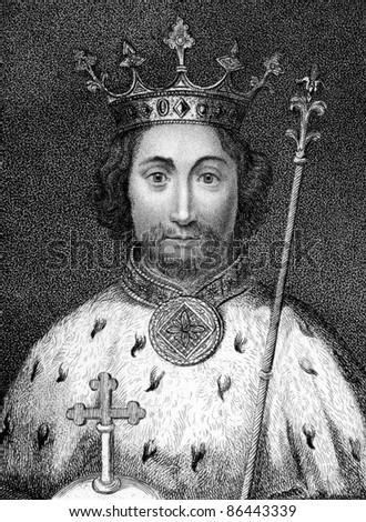 Richard II (1367-1400). Engraved by Bocquet and published in the Catalogue of the Royal and Noble Authors, United Kingdom, 1806.