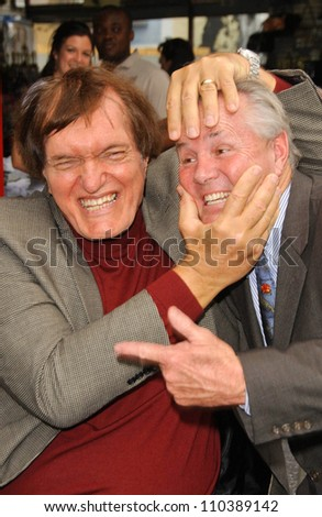 Richard Kiel and Tom LaBonge  at the ceremony honoring Roger Moore with the 2,350th Star on the Hollywood Walk of Fame. Hollywood Boulevard, Hollywood, CA. 10-11-07 - stock photo