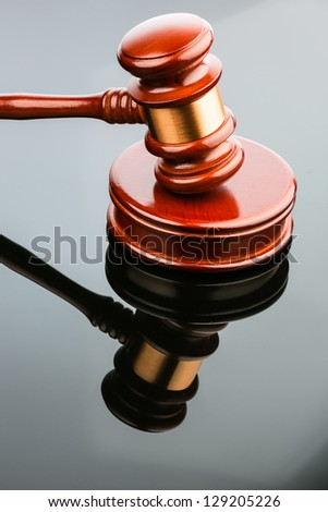 richerhammer or auction hammer, symbol photo of authority and decision-making - stock photo