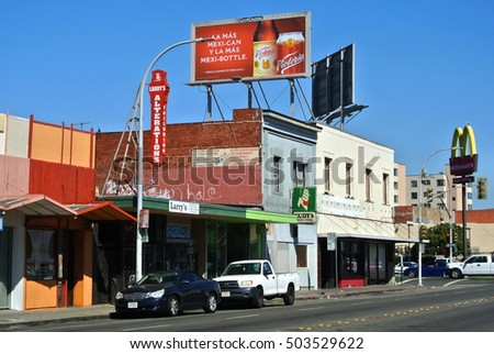 RICHMOND, CALIFORNIA - CIRCA 2016: Only a few blocks from the civic center the high crime intersection of 23rd Street and MacDonald Avenue is in a state of disrepair.
