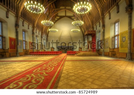 Ridderzaal, or Hall of Knights in The Hague, Holland - stock photo