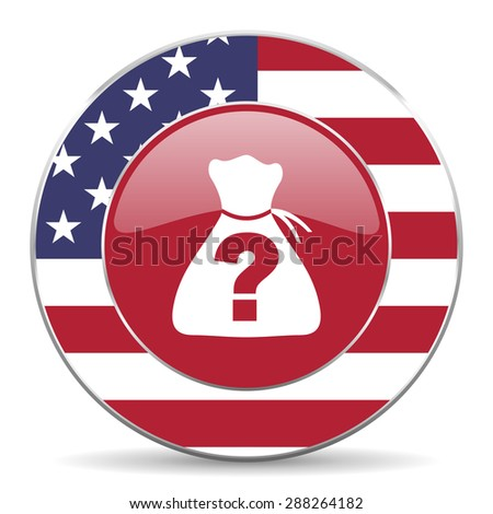 riddle american icon original modern design for web and mobile app on white background