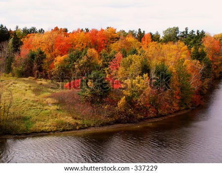Rideau River in October - stock photo