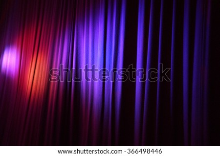 rideaux curtains theater - stock photo