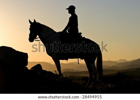 Rider profile - stock photo