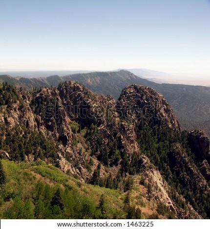 Ridge-line, Sandia Mountains - stock photo