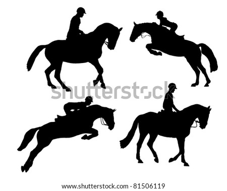 riding horse - stock photo