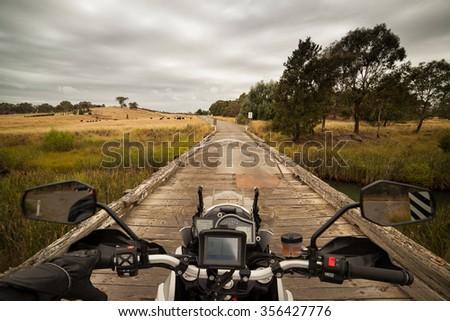 Riding through the Australian countryside - stock photo