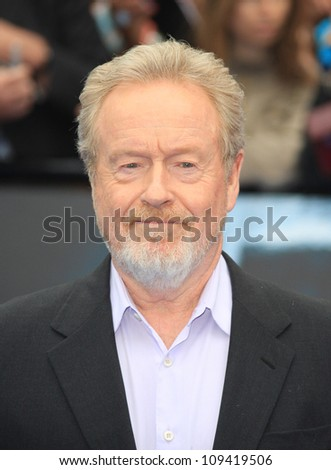 Ridley Scott arriving for the World Premiere of Prometheus, Empire Cinema in Leicester Square. 31/05/2012 Picture by: Henry Harris / Featureflash - stock photo