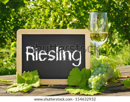 Riesling Wine - stock photo
