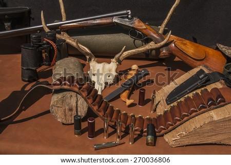Rifle and hunting gun - stock photo