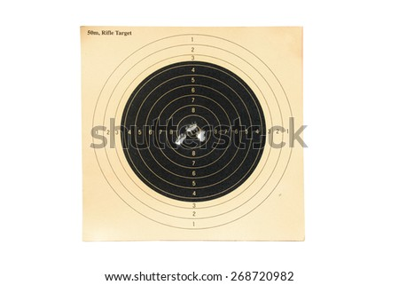 Rifle-Target on white background - stock photo