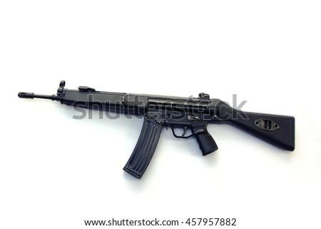 rifle white background - stock photo