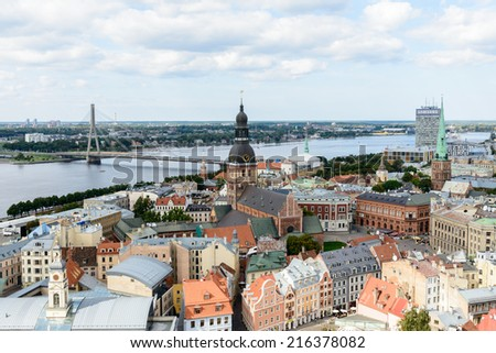 RIGA, LATVIA - SEP 7, 2014: Architecture Riga, Latvia. Riga is the capital and largest city of Latvia