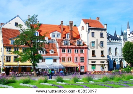 Riga old town, Latvia - stock photo