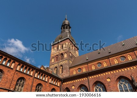 Rigas Doms cathedral, Latvia - stock photo