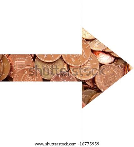 right arrow - stock photo
