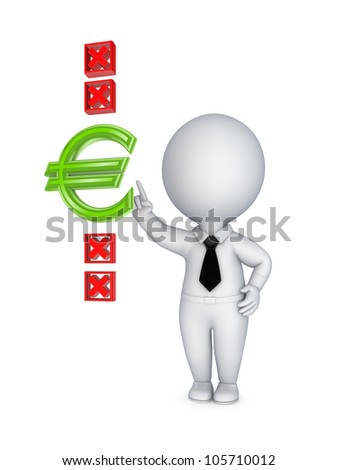 Right choice concept.Isolated on white background.3d rendered. - stock photo