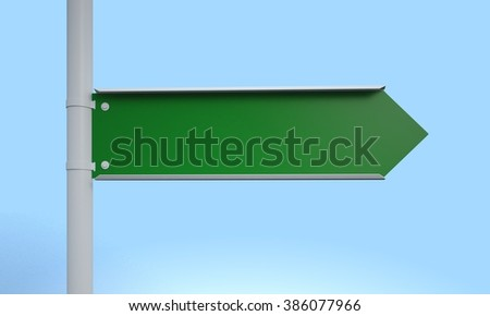 right direction blank road sign