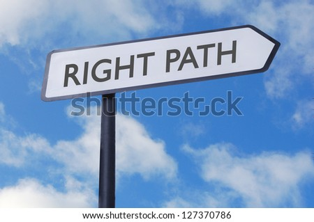 Right path sign