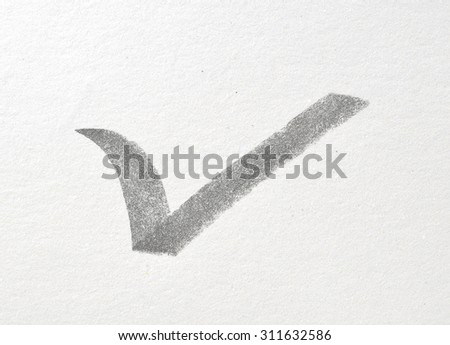 Right sign on paper - stock photo