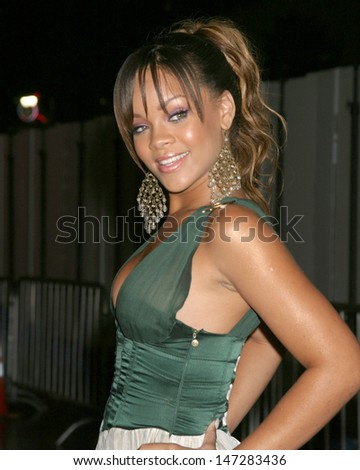Rihanna Arrive(s) at the  World Music Awards Kodak Theater Los Angeles, CA August  31, 2005 - stock photo