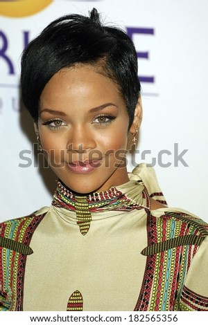 Rihanna at Clive Davis Pre-Grammy Party, Beverly Hilton Hotel, Los Angeles, CA, February 09, 2008 - stock photo
