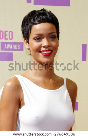 Rihanna at the 2012 MTV Video Music Awards held at the Staples Center in Los Angeles, United States on September 6, 2012.