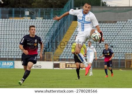 RIJEKA, CROATIA MAY 10: soccer match between NK Rijeka and NK Lokomotiva on May 10, 2015 in Rijeka - stock photo