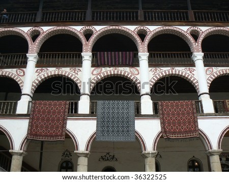 Rila Monastery, Bulgaria - stock photo