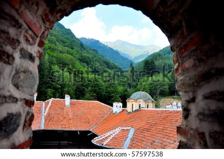 Rila Monastery. Rila Mountains,  Bulgaria - stock photo