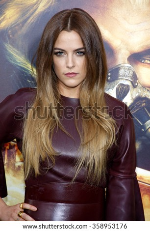 "Riley Keough at the Los Angeles premiere of ""Mad Max: Fury Road"" held at the TCL Chinese Theatre IMAX in Los Angeles, USA on May 7, 2015. - stock photo"
