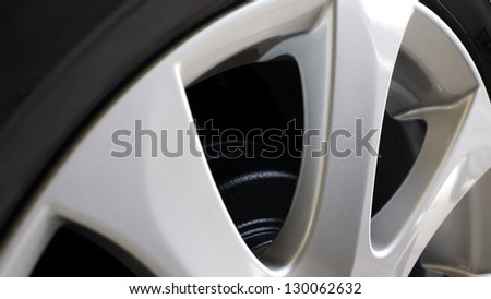 Rims or Magnesium Alloy Wheel - stock photo