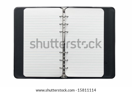 ring binder notebook on white - stock photo