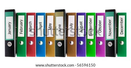 Ring Binders on Isolated White Background