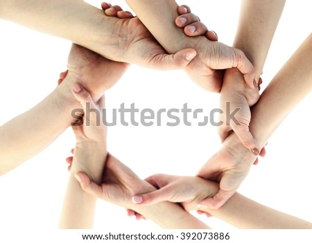 Ring from child's hands - unity concept - stock photo