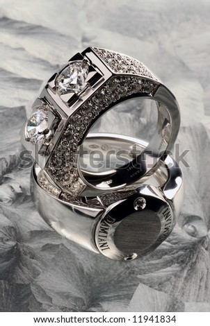 Ring from white gold 2