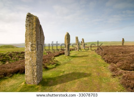 Ring of Brodgar - stock photo