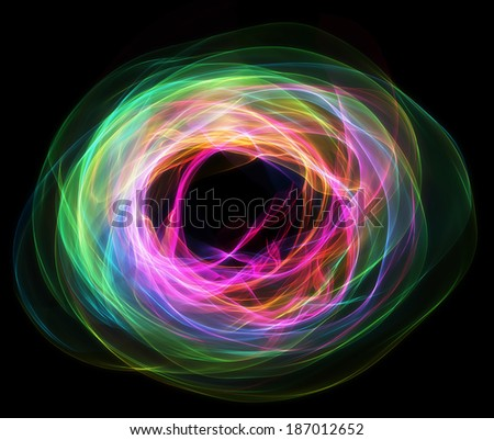 Ring of colorful flames - stock photo