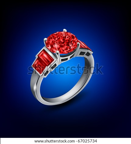 ring on background - stock photo
