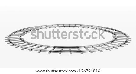 Ring railway - stock photo
