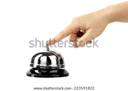 ring the call bell - stock photo