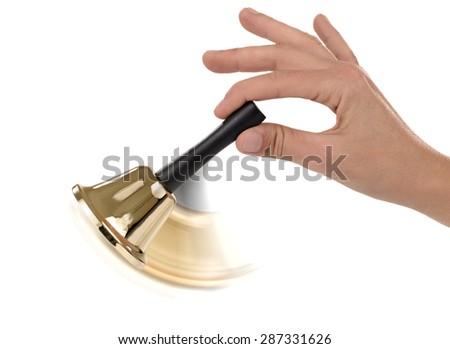 Ringing the call bell - stock photo