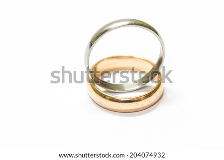 rings  isolated on white background