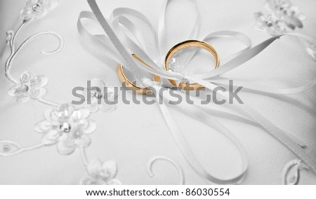 rings on a pillow - stock photo